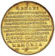 Medal - wagi 15 dukatów - Jan II Kazimierz Waza – reverse