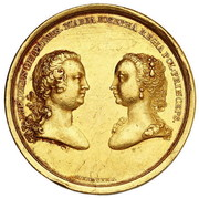 Medal zaślubinowy - August III Sas (Drezno mint) – obverse