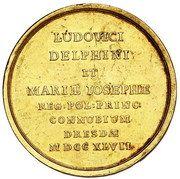 Medal zaślubinowy - August III Sas (Drezno mint) – reverse