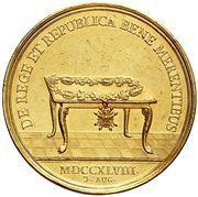 Medal nagrodowy - August III Sas (Drezno mint) – reverse