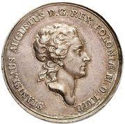 Medal koronacyjny - Stanisław August Poniatowski (Warszawa mint) – obverse