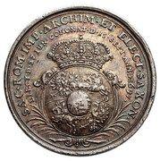 Medal Koronacyjny - August II Mocny – reverse