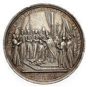 Medal koronacyjny - August III Sas – reverse