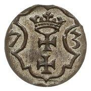 Denar gdański - Interregnum (Gdańsk mint) – reverse
