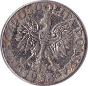 50 Groszy (Nickel plated Iron; German Occupation WW II) – obverse
