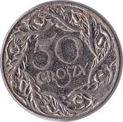50 Groszy (Nickel plated Iron; German Occupation WW II) – reverse