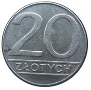 20 Złotych (small type) -  reverse