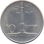 10 Złotych (700th Anniversary of Warsaw) -  reverse