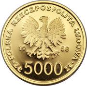 5000 Złotych (Papacy; Gold Bullion) -  obverse