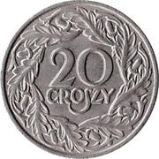 20 Groszy (Nickel) -  reverse