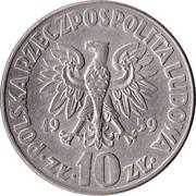 10 Złotych (Mikolaj Kopernik, large type) -  obverse