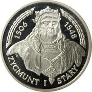 200 000 Złotych (Zygmunt I bust) -  reverse