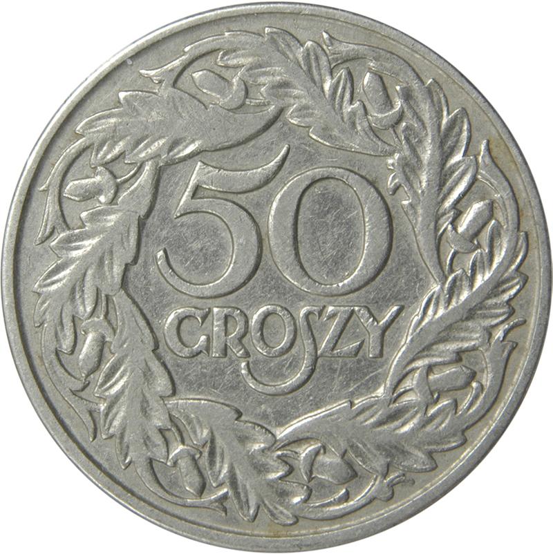 50 groszy soit O,5 zloty dans une vieille édition de l'équivalent de nos centimes ou cent si vous pensez qu'on vit en Amérique.