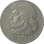 10 Złotych (Tadeusz Kosciuszko, small type) -  reverse