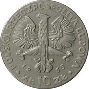 10 Złotych (700th Anniversary of Warsaw - Nike) -  obverse