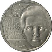 10 Złotych (Maria Sklodowska-Curie) -  reverse