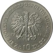 10 Złotych (50th Anniversary of Third Silesian Uprising) -  obverse