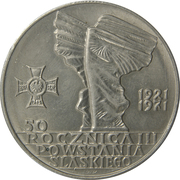 10 Złotych (50th Anniversary of Third Silesian Uprising) -  reverse