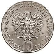 10 Złotych (Mikolaj Kopernik, small type) -  obverse