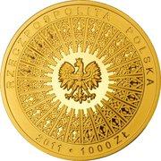 1000 Złotych (Beatification of John Paul II) – obverse