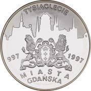 20 Złotych (1000th anniversary of Gdańsk ) -  reverse