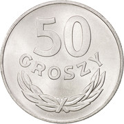 50 Groszy (large date) -  reverse
