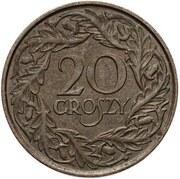 20 Groszy (Trial Strike Brass) – reverse