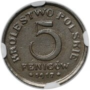 5 Fenigów (Trial Strike or mule) – reverse