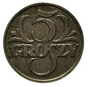 5 Groszy (Trial Strike Zn) – reverse