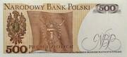 500 Zlotych -  reverse