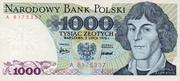 1000 Zlotych – obverse