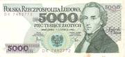 5,000 Zlotych – obverse