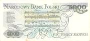 5,000 Zlotych – reverse