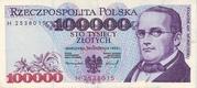 100,000 Zlotych – obverse