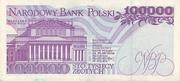 100,000 Zlotych – reverse