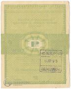 5 Cents (Foreign Exchange Certificate) – reverse