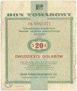 20 Dollars (Foreign Exchange Certificate) – obverse