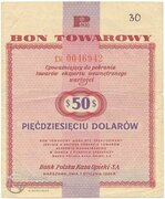 50 Dollars (Foreign Exchange Certificate) – obverse