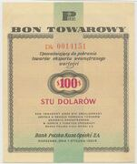 100 Dollars ( Foreign Exchange Certificate) – obverse