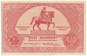 50 groszy (Bilet Zdawkowy) – obverse
