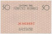 50 Pfennig (Getto) – reverse