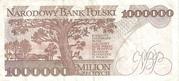 1,000,000 Złotych – reverse