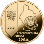 200 złotych (100th Anniversary of the 3rd Silesian Uprising ) – obverse