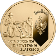 200 złotych (100th Anniversary of the 3rd Silesian Uprising ) – reverse