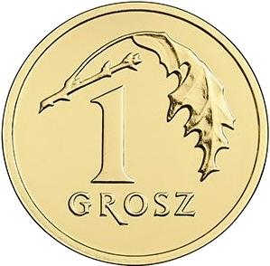 2016 Poland 1 Grosz Coin BU Very Nice KM # 923