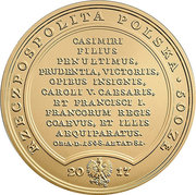 500 Złotych (Sigismun Dus Primus) – obverse