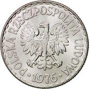 1 Złoty (large type; large date) -  obverse