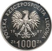 1000 Złotych (Museum of Silesia - Katowice; Trial Strike) -  obverse