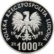 1000 Złotych (Environmental Protection - Squirrel; Trial Strike) -  obverse