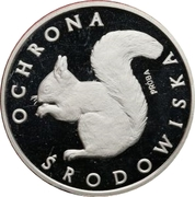 1000 Złotych (Environmental Protection - Squirrel; Trial Strike) -  reverse